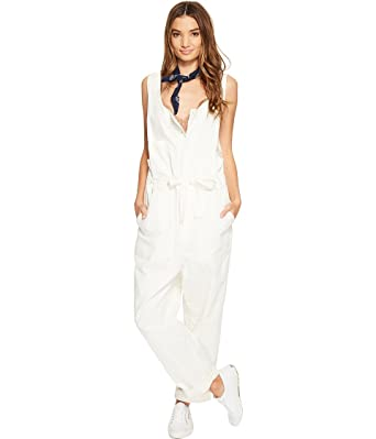 547bf8e6cc Amazon.com  Free People Women s Work It Jumpsuit Ivory Small  Clothing