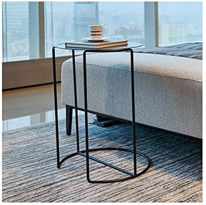 Goedkoopste Iron Opslagplank Salontafel Eenvoudige Bank Bijzettafel Fashion Creatieve Kantoor Aan Huis Decoratie, Zwart 4.11  j7zgB2a