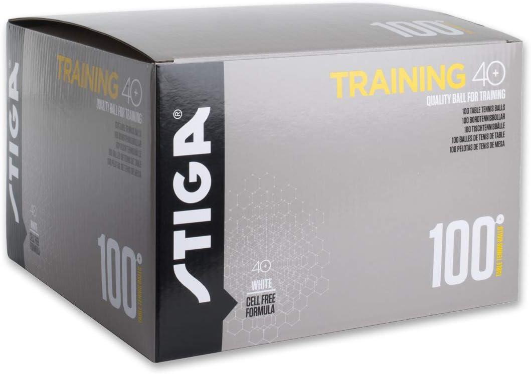 Stiga Trainer ABS 40+ Pack 100u. Blancas