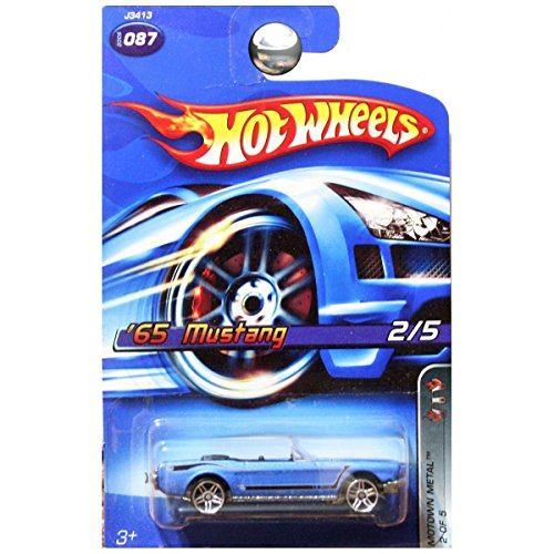 1965 Ford Mustang Convertible - Hot Wheels 2006 Motown Metal 1965 Ford Mustang Convertible in Blue #87