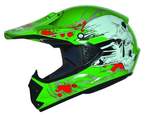 ATO Kids Pro Kinder Crosshelm Grün Größe: XS 53-54cm Kinderhelm Kinder Cross BMX MX Enduro Helm