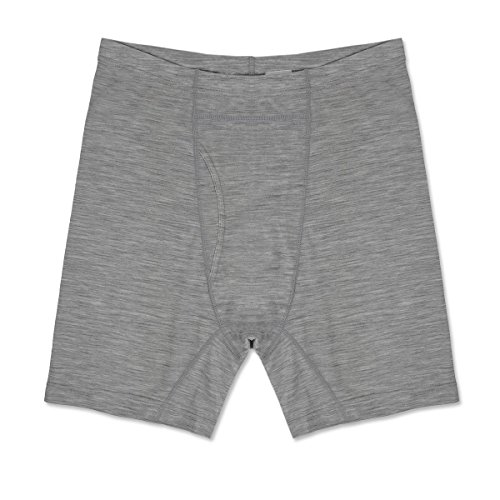 Minus33 Merino Wool 1311 Woolverino Men's Micro Weight Boxer Brief Ash Grey (Weight Medium Potato)