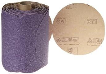 "3M Stikit Paper Disc Roll 735U, PSA Attachment, Ceramic Aluminum Oxide, 5"" Diameter, P80 Grit (Roll of 100)"