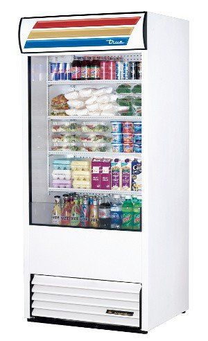True TAC-36 Vertical Air Curtain Open Display Merchandiser