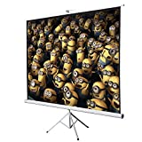 ARKSEN 100'' Tripod Stand Portable Projection Screen Square Projector Office, 70''x70''