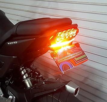 - Integrated Brake and Turn Signals Clear Lens 2017+ LED Light Bar Fender Eliminator Kit with LED Flasher Relay for Honda Grom MSX125