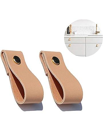 Tire DealMux muebles de cajones gabinete de la puerta del armario del montaje del tornillo Los mangos de madera Beige 10 piezas