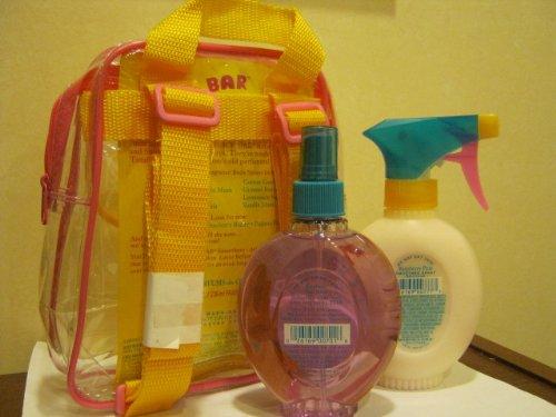 Parfums De Coeur Juice Bar Fragrance Body Spray Gift Set - Raspberry Pear - Refreshee Spray & Fragrance Smoothee Spray - Each 8 Fl Oz - In Clear Case with Back Straps