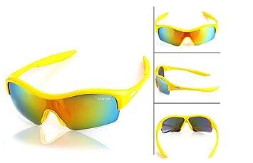 Niños Bicicleta Gafas polarizadas UV lente gafas de sol intercambiables: Amazon.es: Deportes y aire libre