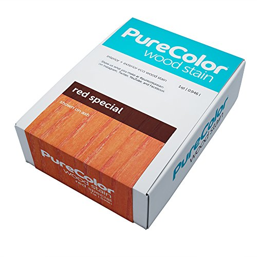 (Wood Stain (Eco-Friendly) by PureColor, Interior and Exterior, 1 Quart (Red Special))