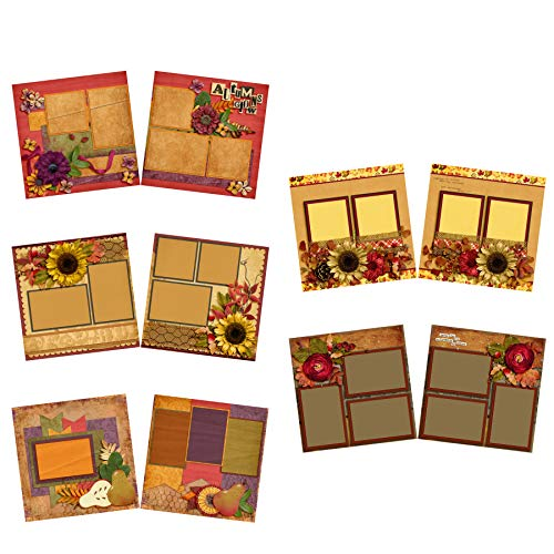 Autumn's Glow - Fall Scrapbook Set - 5 Double Page Layouts