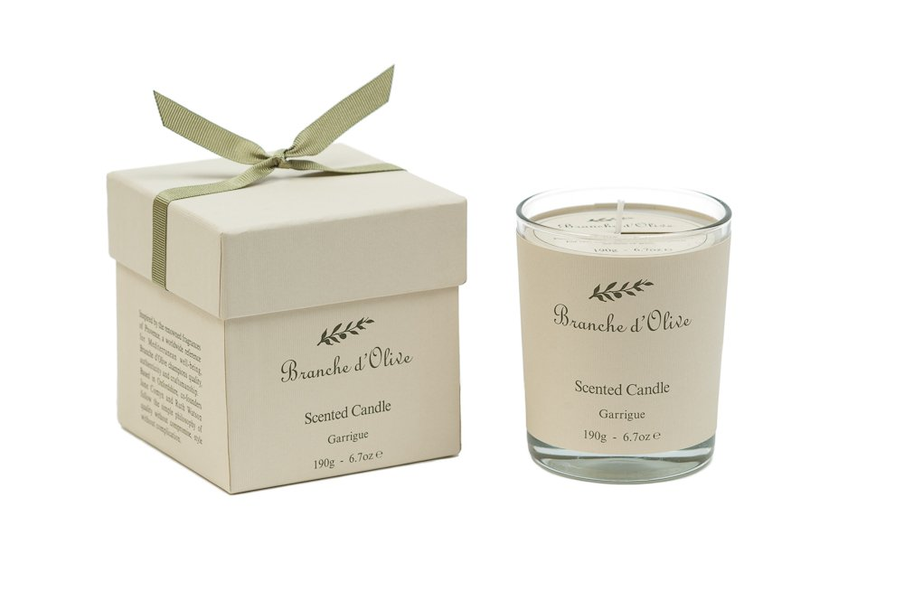 Branche d'Olive 180gr Boxed Scented Candle Garrigue Branche d' Olive