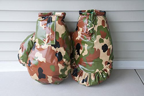 Giant Boxing Gloves for Bounce House Inflatables, Commercial Quality Low Density Foam and Double Stitched Vinyl, Replacement for Interactive Inflated Boxing Ring (Green and Brown Camo Pair) by TentandTable (Image #4)