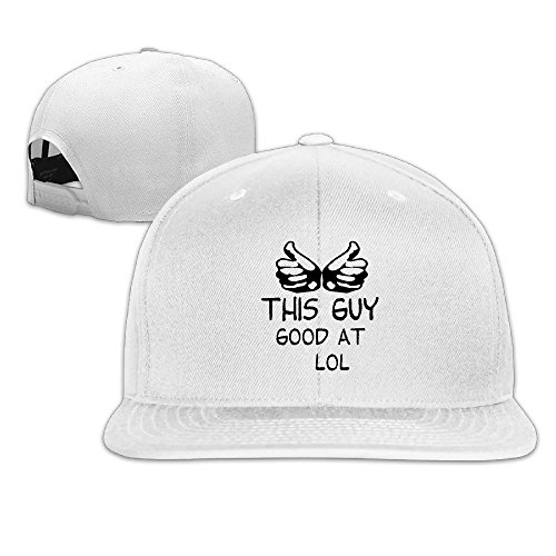 [Custom Unisex Good At L Games Flat Bill Baseball Caps Hat White] (Kentucky Derby Costumes For Dogs)