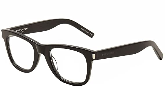 ed6f3730d9 Saint Laurent Eyeglasses SL50 SL 50 005 Black Transparent Optical Frame 50mm