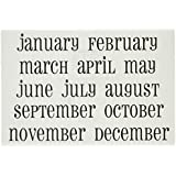 SRM Stickers Calendar Months, Large Snappy