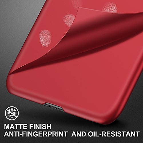 Anti Antichoc X X Coque Scratch iPhone Cover Case Rouge Fine 10 Housse iPhone Crystal Ultra iPhone iPhone 10 Apple Protection Rouge Rayure Transparente Mince Souple PC Anti Silicone Noir q5rT51Swx