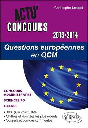Livres Questions Européennes en QCM 2013-2014 pdf ebook
