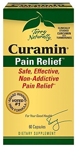 Terry Naturally Curamin Safe Effective Pain Relief with Clinically Studied BCM95 Curcumin 60 Caps