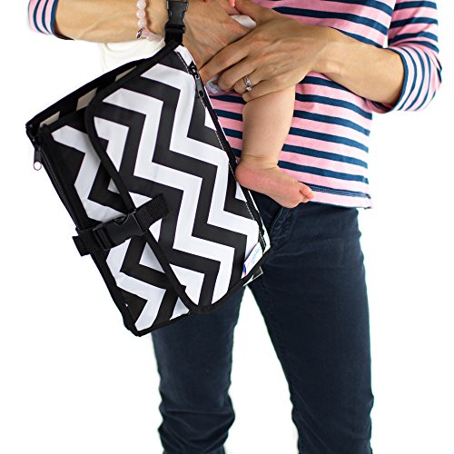 Travel Diaper Changing Pad for Babies – Foldable Mat with Detachable Changing Pad – Baby Bag -Waterproof, Compact & Portable - Excellent Padding for ()