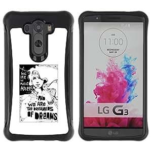 Suave TPU GEL Carcasa Funda Silicona Blando Estuche Caso de protección (para) LG G3 / CECELL Phone case / / Dreamer Deep Meaning Metaphor White /