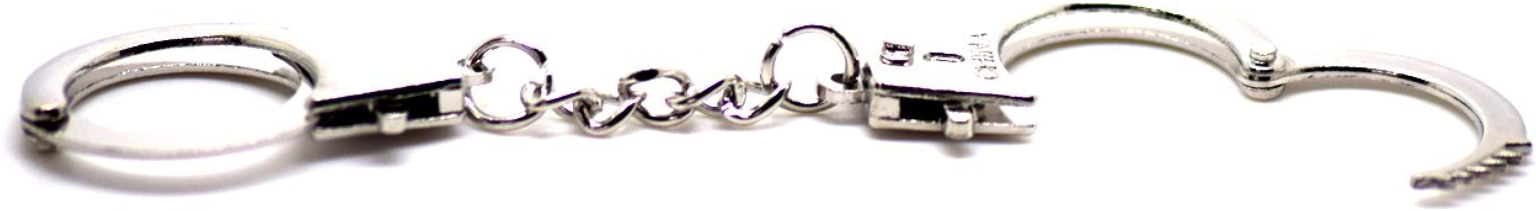 UltraByEasyPeasyStore Mens Mini Metal Handcuff shaped keychain keyrings