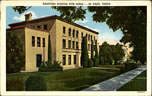 Radford School For Girls El Paso, Texas Original Vintage - El Kids Paso