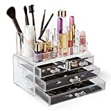 Homekit® - Acrylic Cosmetic Make-up & Jewellery Organizer with 16 compartments and 4 Drawers