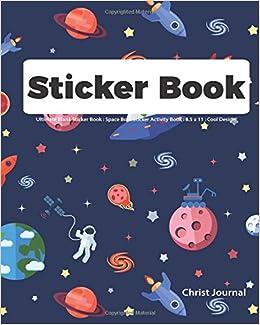 Sticker Book Ultimate Blank Sticker Book Space Boys Sticker