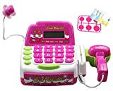Battery Operated Toy Cash Register Set with Mic + Scanner + Calculator for Kids Ages 3+ Years