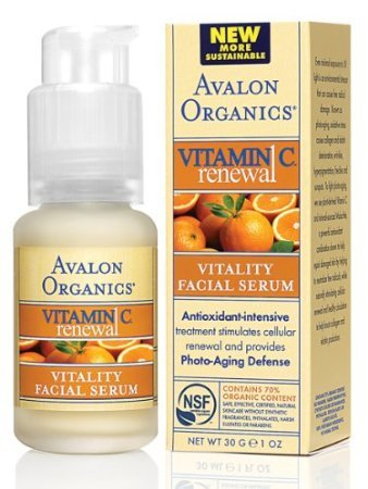 AVALON ORGANICS, Vitamin C Vitality Facial Serum - 1 - C Avalon Vitamin Vitality Serum Organics Facial