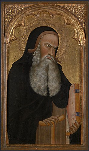 Oil Painting 'Saint Anthony Abbot About 1350, Giovanni Di Nicola' 20 x 34 inch / 51 x 86 cm , on High Definition HD canvas prints is for Gifts And Bath Room, Game Room And Hallway Decoration
