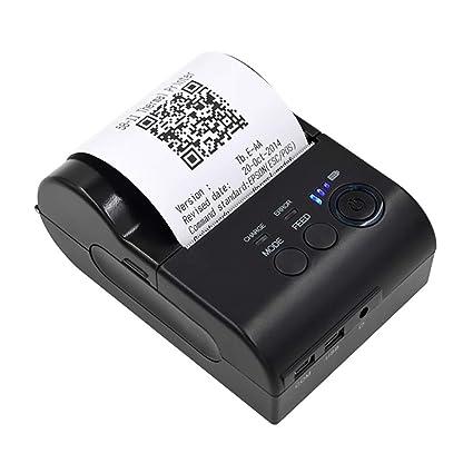 ZUEN Impresoras portátiles inalámbricas, BT Impresora de Recibos ...