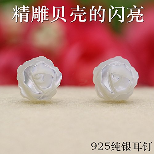 Earrings with shell models natural freshwater earrings s925 sterling silver flower pin fashion simple personality hypoallergenic shipping