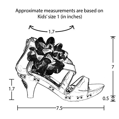 dd31c72e701 Kids Dress Sandals Rhinestone Bow Accent Strappy Flower High ...