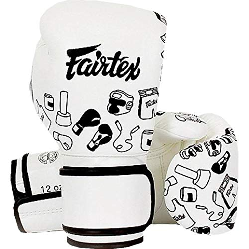 Fairtex BGV14 Microfibre Boxing Gloves Muay Thai Boxing, MMA, Kickboxing,Training Boxing Equipment, Gear for Martial Art (Graffiti, 14 oz)
