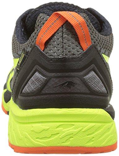 Asics Herren Gel-Fujitrabuco 5 G-Tx Traillaufschuhe Schwarz (Shark/safety Yellow/black)