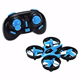 Ochine Mini Drone with 3D Flips, Headless Mode, One Key Return, Full Protectors, H/L Speed, Anti Crush UFO RC 2.4G 4CH 6Axis Gyro Headless Mode Remote Control RC RTF Blue