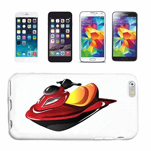 """cas de téléphone iPhone 6S """"BATEAUX JET SKI JET SKI ET BATEAU ACCESSOIRES JETSKI LICENCE"""" Hard Case Cover Téléphone Covers Smart Cover pour Apple iPhone en blanc"""