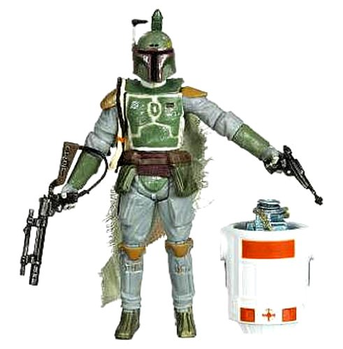 Star Wars Legacy Collection 4 Inch Tall Action Figure - BD36 Boba Fett with Jetpack, Blaster Rifle, Blaster Pistol and Droid R3-A2 (Boba Fett Toy Gun)