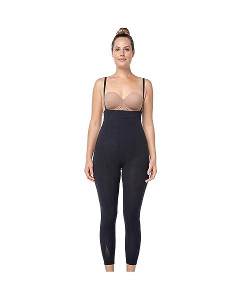 ba402396c0f42 Leonisa Invisible Tummy Control Bodysuit Shapewear Leggings for Women with  Leg Compression Shorts