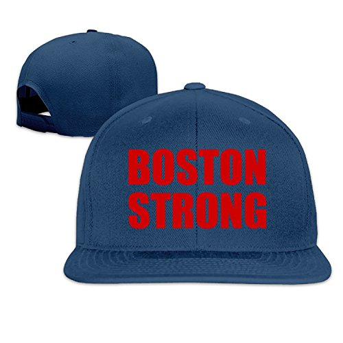 Unisex Boston Strong Adjustable Snapback Baseball Cap Navy One Size