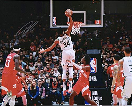 Giannis Antetokounmpo Milwaukee Bucks Autographed 16
