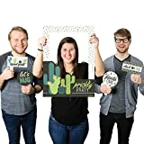 Big Dot of Happiness Prickly Cactus Party - Fiesta Party Selfie Photo Booth Picture Frame & Props - Printed on Sturdy Material