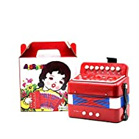 Liobaba 1PC Mini Kids Accordion 7-Key 3 Bass Educational Childrens Beginner Practice Music Instrument Band Toy