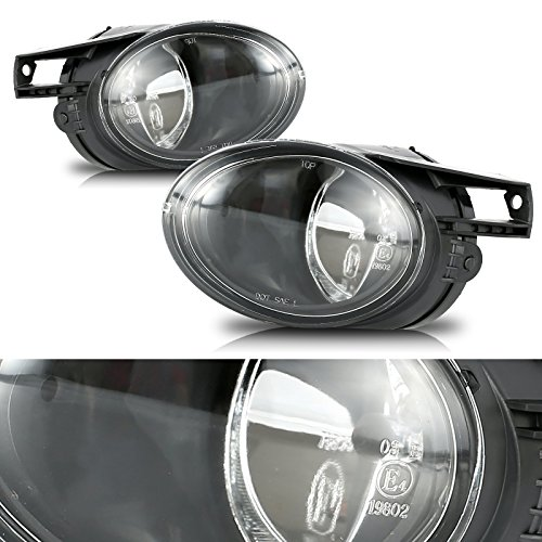 cciyu Clear Lens OE/Replacement Fog Light Assembly Replacement fit for 2006-2010 Volkswagen Passat Pair -
