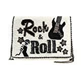 MARY FRANCES Rock & Roll Beaded Cross-body Music Clutch