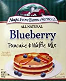 Maple Grove All Natural Blueberry Pancake & Waffle Mix (Pack of 2) 24 oz Boxes by Maple Groves of Vermont