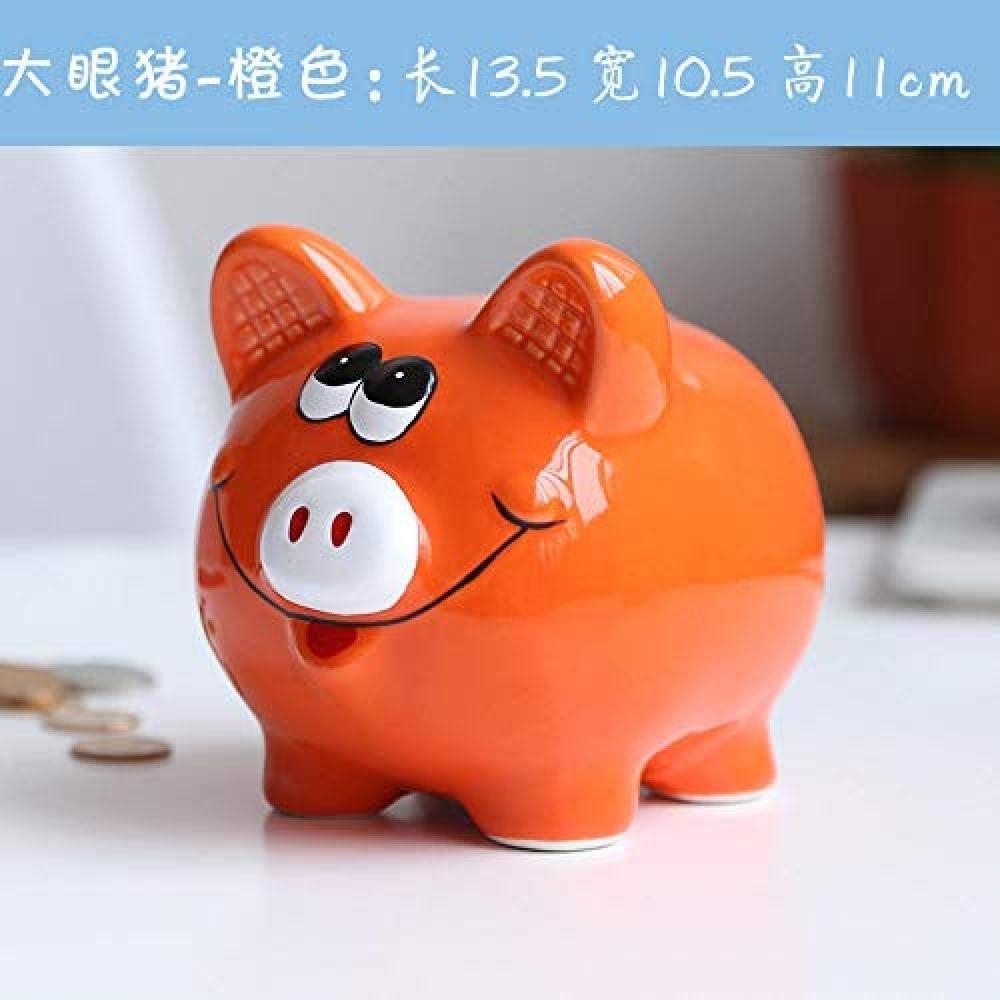 Yadianna Decorations Art Craft Child Money Bank Money Coin Ceramic Piggy Bank