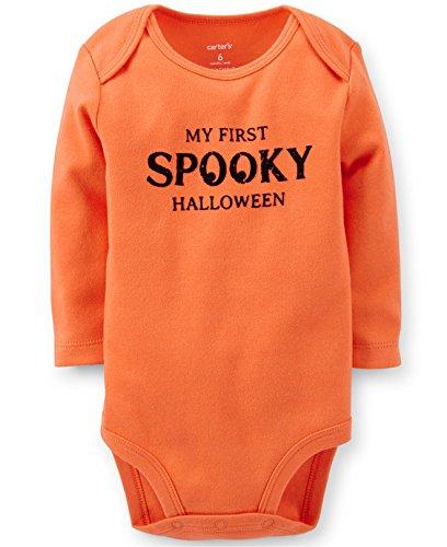 Carter's Newborn 'My First Spooky Halloween' Bodysuit Onesie, Orange ()